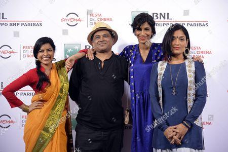 the director Pan Nalin, Anushka Manchanda, Sandhya Mridul, Rajshri Deshpande