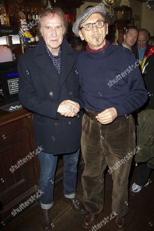 Ray Davies (Music) and Kevin Rowland during the interval