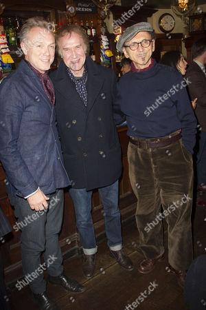 Gary Kemp, Ray Davies (Music) and Kevin Rowland during the interval