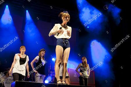 German singer Jennifer Weist aka Jennifer Rostock performing live during Soundcheck Open Air in Sempach-Neuenkirch, Lucerne, Switzerland, Europe