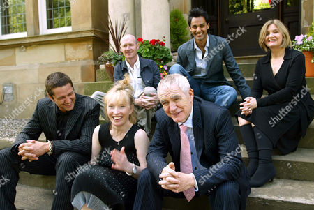 Stock Picture of L - R: Gerard Butler, Paul Lafferty, Lindsay Duncan, Atta Yaqub, Brian Cox and Andrea Gibb