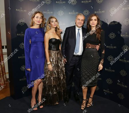 Maria Cristina Buccellati, Lucrezia Buccellati, Andrea Buccellati and Elisa Sednaoui