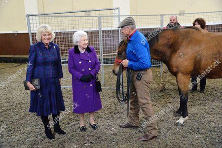 Camilla Duchess of Cornwall, Queen Elizabeth II and Monty Roberts