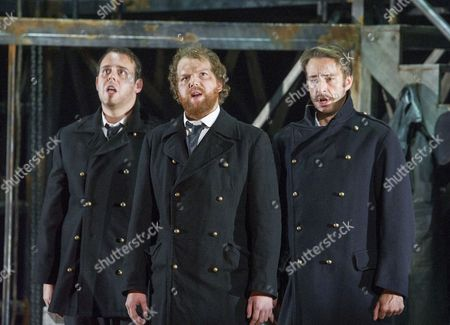 Stock Picture of Samuel Sakker as Sandy, David Shipley as Arthur, Yuriy Yurchuk as Blazes,