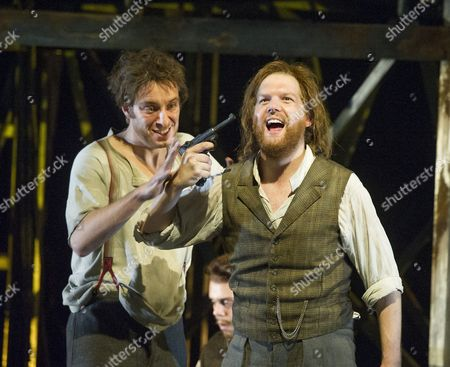 Stock Image of Yuriy Yurchuk as Blazes,David Shipley as Arthur