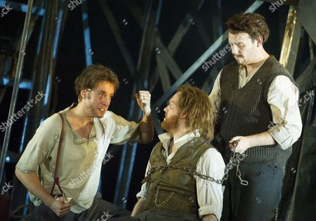 Yuriy Yurchuk as Blazes, David Shipley as Arthur, Samuel Sakker as Sandy
