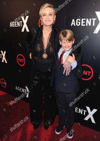 Sharon Stone and Laird Vonne Stone