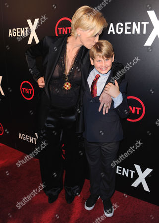 Stock Photo of Sharon Stone and Laird Vonne Stone