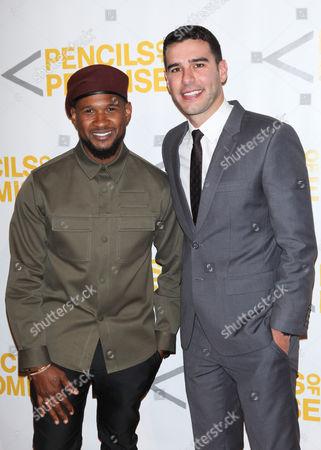 Usher and Adam Braun