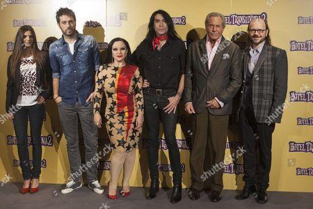 Clara Lago, Dani Martin, Alaska, Mario Vaquerizo, Arturo Fernandez and Santiago Segura