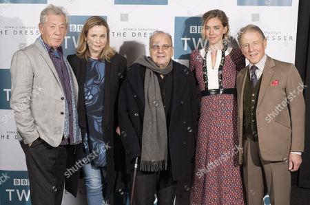 Ronald Harwood, Sir Ian McKellen, Emily Watson, Edward Fox and Vanessa Kirby