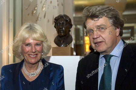 Camilla Duchess of Cornwall and Merlin Holland, grandson of Oscar Wilde