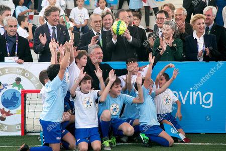 Roberto Baggio, Ban Ki-moon and Yoo Soon-taek