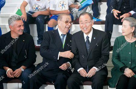 Roberto Baggio, Paolo Fulci, Ban Ki-moon and Yoo Soon-taek