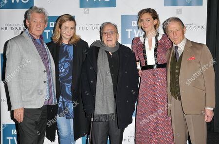 Sir Ian McKellen, Emily Watson, Ronald Harwood, Vanessa Kirby and Edward Fox