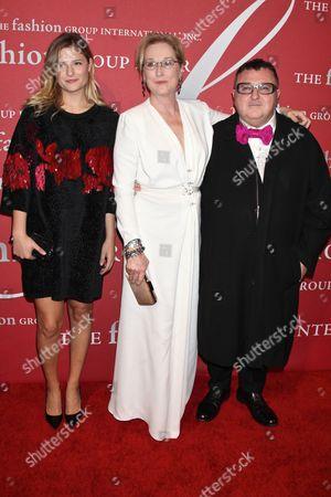Louisa Gummer, Meryl Streep and Alber Elbaz