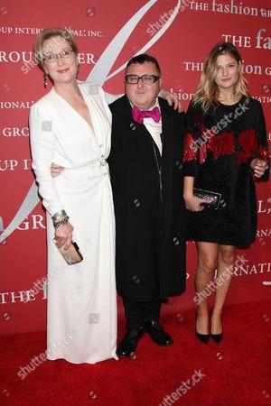 Meryl Streep, Alber Elbaz and Louisa Gummer