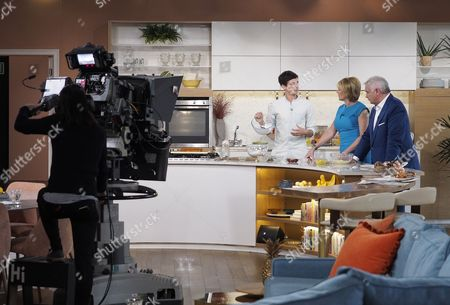 Donal Skehan with Ruth Langsford and Eamonn Holmes