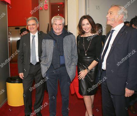 Claude Lelouch, Elsa Zylberstein and Francois Rebsamen