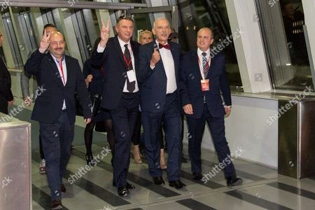 Editorial photo of Polish party leaders TV debate, Warsaw, Poland - 20 Oct 2015