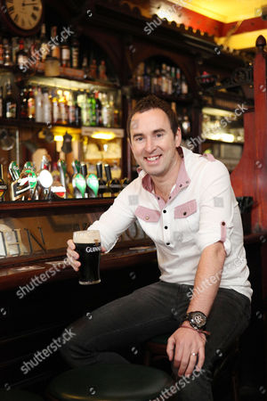 Stock Image of Damian Leith in Kehoe's Pub off Grafton Street.