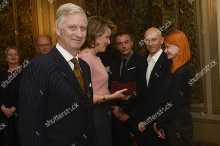 King Philippe, Queen Mathilde and Axelle Red