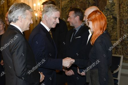 King Philippe, Didier Reynders and Axelle Red