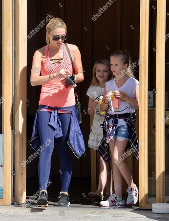 Alex Curran, Lilly-Ella Gerrard and Lexie Gerrard at Pressed Juicery in Beverly Hills