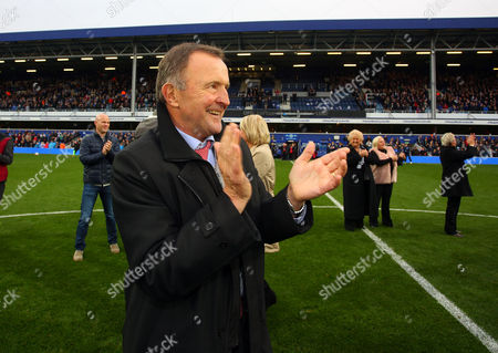 John Hollins on the pitch at half time during the Sky Bet Championship match between Queens Park Rangers and Milton Keynes Dons played at Loftus Road, London on 24th October 2015