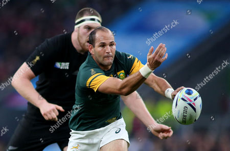 Stock Image of Fourie du Preez of South Africa during the Rugby World Cup Semi Final match between South Africa and New Zealand at Twickenham, London on October 24th 2015