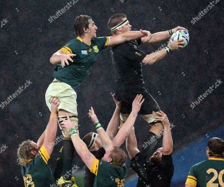 New Zealand's Richie McCaw set a World Cup record in captaining his side for the 12th time in the competition surpassing the 11 captain's appearances by England duo Martin Johnson and Will Carling, Raphael Ibanez of France, John Smit of South Africa and Wales's Sam Warburton