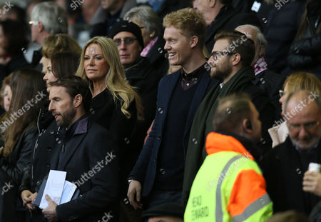 Ulla Sandrock Jurgen Klopps wife in the stands during the Barclays Premier League match between Liverpool and Southampton played at Anfield on October 25th 2015