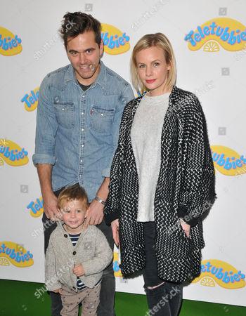 Lauren Crace with partner Michael Stevenson & son Jack