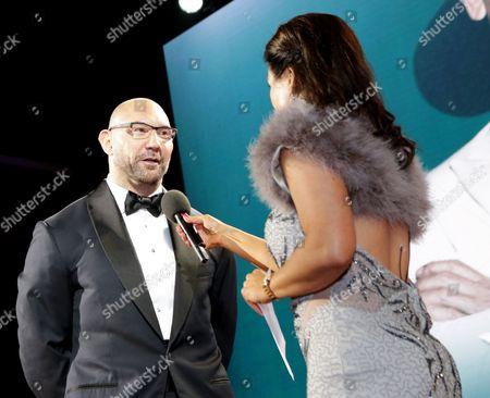 David Bautista and Susanna Reid