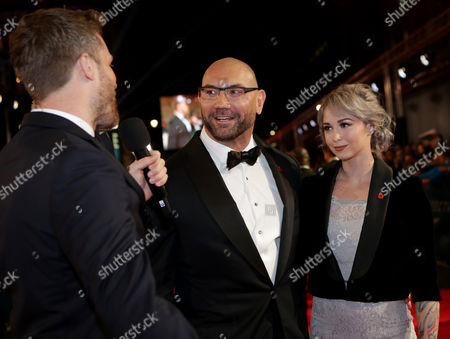 Rick Edwards, David Bautista and Sarah Jade