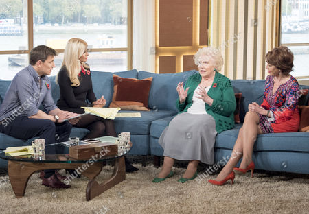 Ben Shephard and Holly Willoughby with Kathy Lette and Denise Robertson