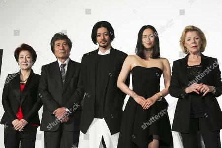 Stock Photo of Kazuko Inoue, Kohei Oguri, Joe Odagiri, Miki Nakatani and Claudie Ossard