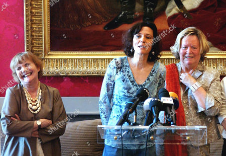 Jacqueline Aubenas, Florence Aubenas and Anne Marie Lizin