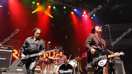 (L-R) Rich Cole, Brad Elvis and Wally Palmar of The Romantics