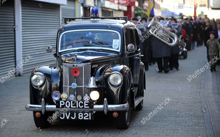 1952 Ford Prefect police car driven and owned by Brian Bedford