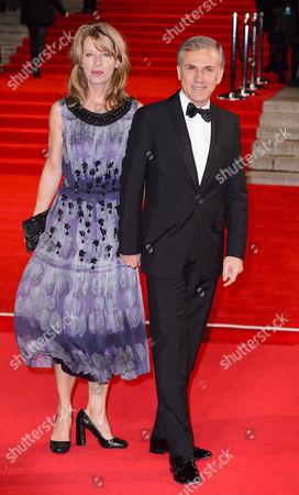 Judith Holste and Christoph Waltz