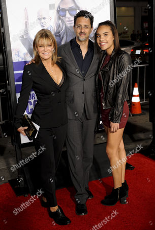 Grant Heslov, wife Lysa Hayland and guest