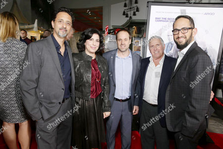 Grant Heslov, Sue Kroll, Jeff Skoll, Dan Fellman, Greg Silverman