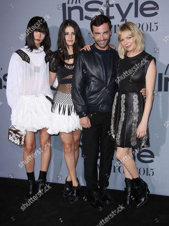 Doona Bae, Selena Gomez, Nicolas Ghesquiere and Michelle Williams
