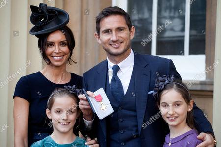 Stock Photo of Frank Lampard, Christine Bleakley, Isla Lampard and Luna Lampard