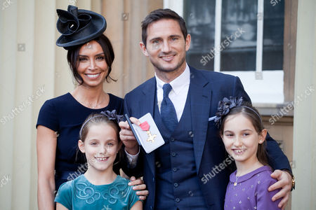Frank Lampard, Christine Bleakley, Isla Lampard and Luna Lampard