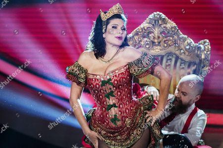 Editorial image of Dominika Peczynski, Army of Lovers, on Swedish Idol, Stockholm, Sweden - 16 Oct 2015