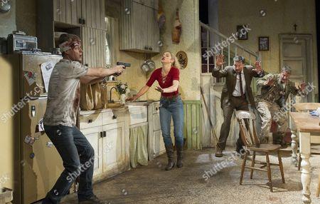 Stock Image of Erik Odom as Tim, Charlotte Parry as Tina, Dan Fredenburgh as Tom, Stephen Tompkinson as Teddy