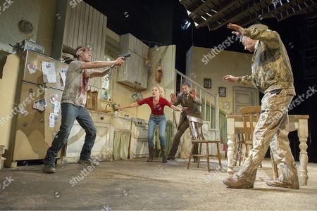 Erik Odom as Tim, Charlotte Parry as Tina, Dan Fredenburgh as Tom, Stephen Tompkinson as Teddy