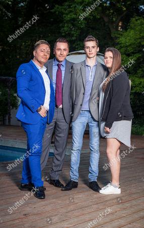 Stock Photo of Barrie Drewitt-Barlow, Tony Drewitt-Barlow, Aspen Drewitt-Barlow and Saffron Drewitt-Barlow
